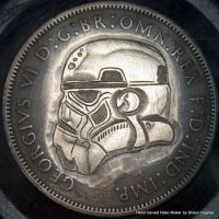 Stormtrooper Star Wars Coin 1940 Penny Carving by shaun750