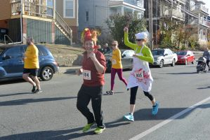 2015 Gobble Turkey Run, the Turkey and Bloody Cook by Miss-Tbones