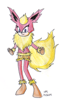 Furrie Flareon by HMS-08