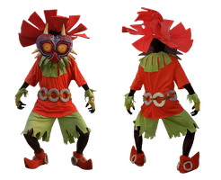 Skull Kid cosplay - front and rear view by Skull-the-Kid