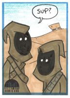 SCCC Jawas Sketch Card by thecheckeredman