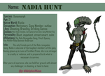 Nadia Hunt The Xenomorph Ref Sheet by ChristoMan