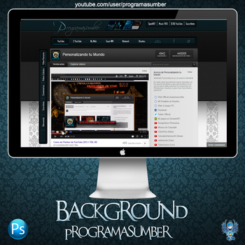 Background YouTube Partner V6 by WebMazterHacker