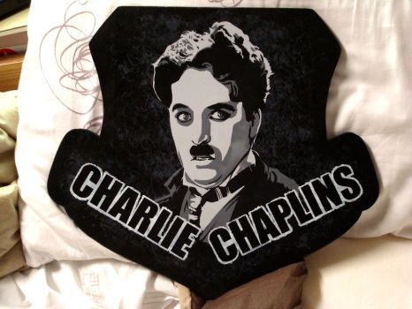 Charlie Chaplin by Cabbages