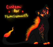 Custom Flame Cat Adoptable for Flamefeather13 by TheFireGypsy