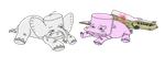 Filmcow - Sad Marshmallow Animals by uhnevermind