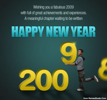 Happy New Year 2009 by rames