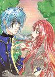 Erza and Jellal from Fairy Tail Fanart by yoolin
