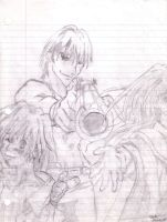 outlaw star on notebook paper by FortunesFool7