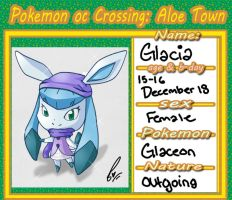 PKMNocCrossing : Glacia The Glaceon by ARSugarPie