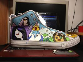 adventure time shoes finished right by me-and-jd