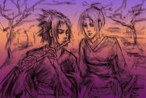 SasuSaku for Zhusanna, sketch by jesterry