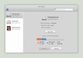 Disk Usage Plug for elementary OS by dahenson