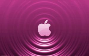 Pink Apple - Ripple Effect by Seans-Photography