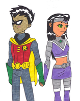 Robin and Nightstar by mmmciaG
