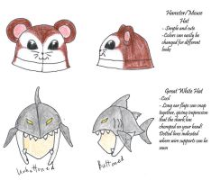 Animal Hat designs by Mnemeth17