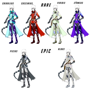 Verena Skins: Rare and Epic by azulann