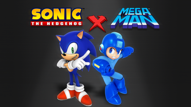 Sonic X Megaman Wallpaper remake by Nibroc-Rock