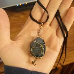 Stone necklace by angilicdisaster