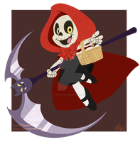 Little Red Reaping Hood by forte-girl7