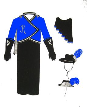 Ravenclaw Band Uniform by figment1990