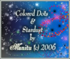 Colored Dots and Stardust by manitu