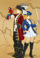 Pirate England x Fem!France by GaiaGirl2468