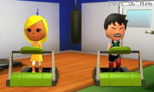 Lizbeth and Nicholas on treadmills by GWizard777