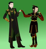 Azula and Loki by GennadyKalugina