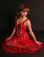 lady in red by bienchen-stock