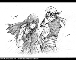 Commission - Hinata vs Kabuto by redsama