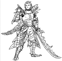 mhf2 character lineart by wyvernsmasher