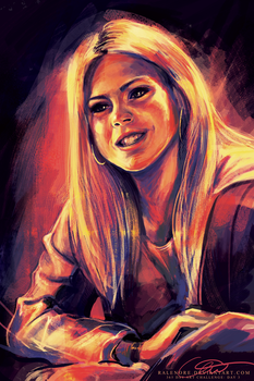 Day 3: Rose Tyler in rose by Ralenore
