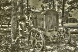 1928 Tractor BW by toddcarter