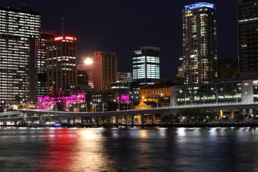 Brisbane City at Night by TheRealCJ