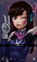Snapchat from D.Va! by MadelineDeathflower