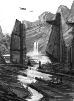 environment sketch by ndr400k