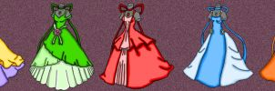 NSG Ballroom Gowns: Colored by XNekoXMika