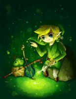 Link and Makar by anokazue