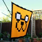 Jake 8-Bit Pixel Art Blanket by EssHaych