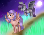 (Commission) Moon Dancer and Friend~ by MLP-Firefox5013