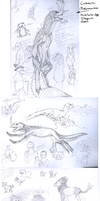 Sketches of mostly pokemons