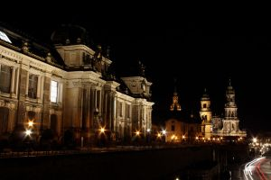 Academy of Fine Arts at Night by RobiSo