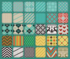 30 Seamless Knit Patterns/Textures by HelgaHelgy
