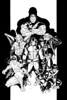 Inks - Ultimate X-Men #61 by Olivier Coipel by adr-ben