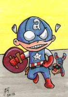 Captain America as a Youngster by johnnyism