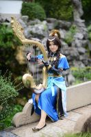 Cai WenJi - playing harp by Jimori