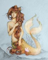 golden mermaid by cibo-nasu