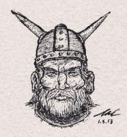 Viking Head by StickstoMagnet