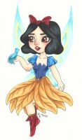 Chibi Disney Fairy Collection: Snow White by chelleface90